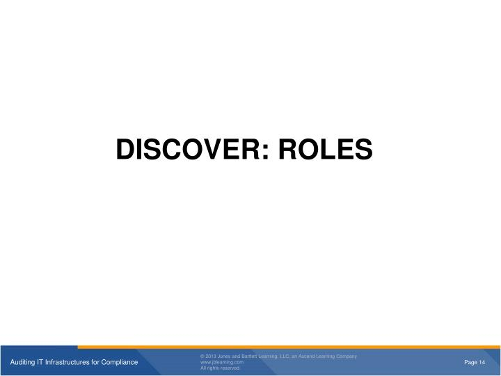 DISCOVER: ROLES