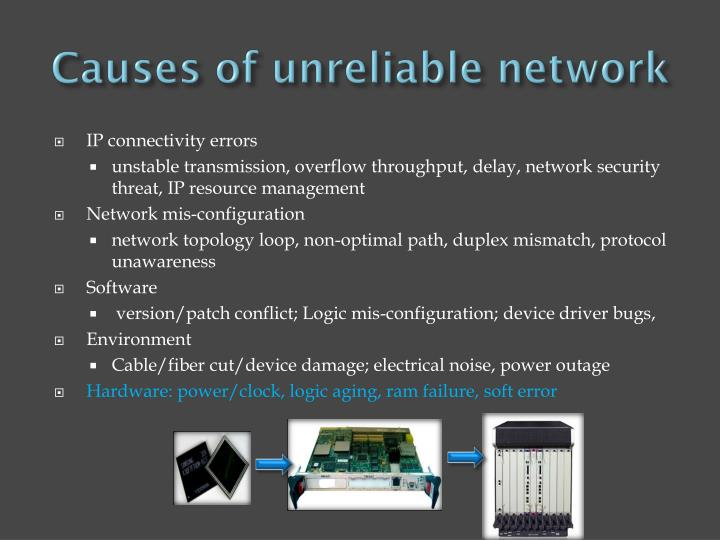 Causes of unreliable network