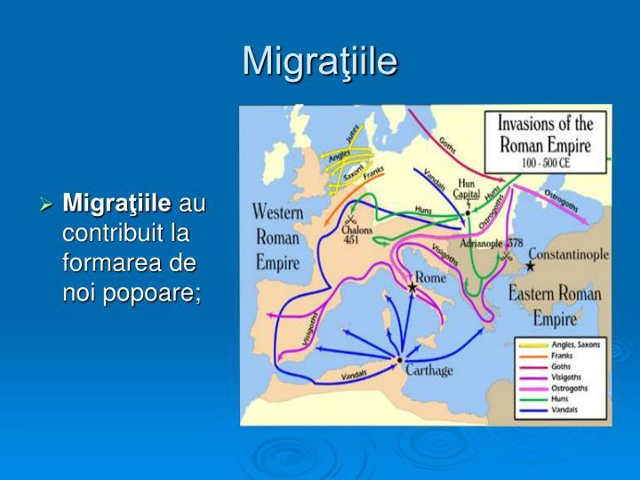 Migraţiile