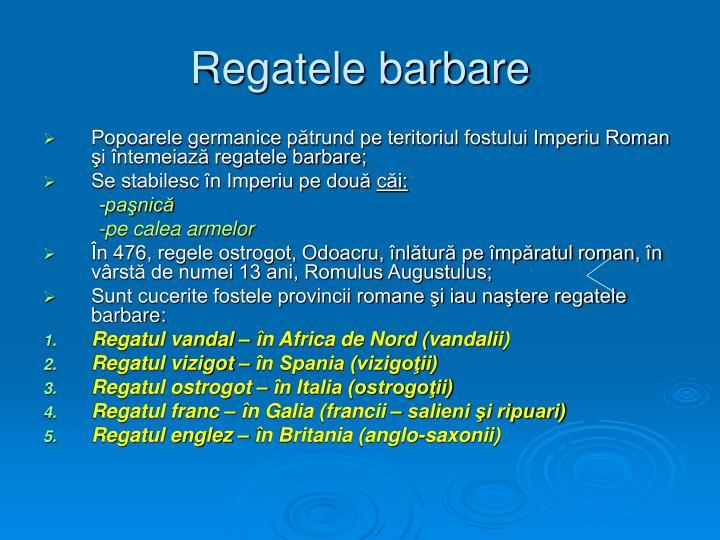 Regatele barbare