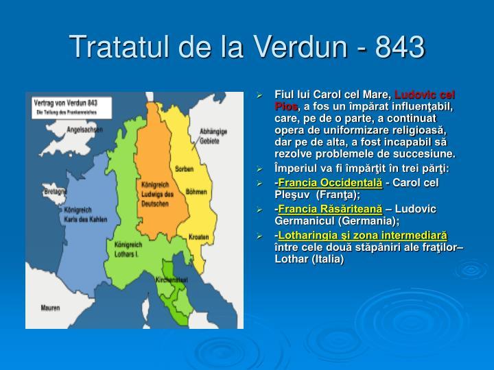 Tratatul de la Verdun - 843