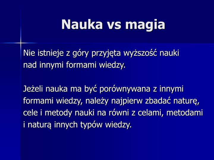 Nauka vs magia