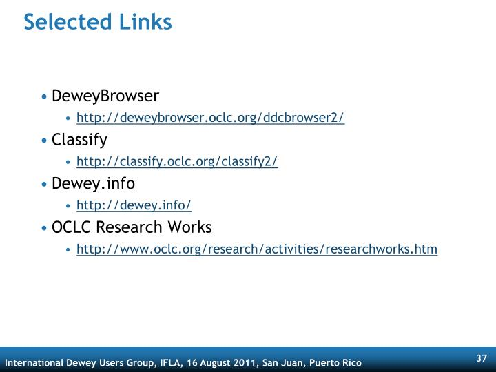 Selected Links