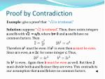 proof by contradiction1