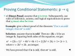 proving conditional statements p q1