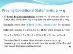 proving conditional statements p q3