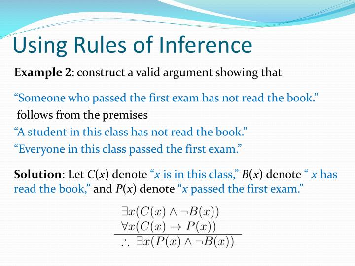 Using Rules of Inference