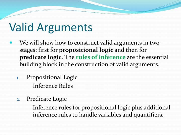 Valid Arguments