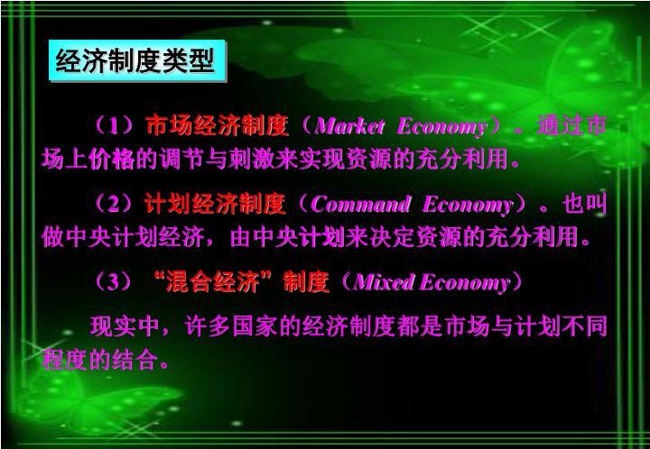 经济制度类型