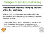 changes to two tier contracting