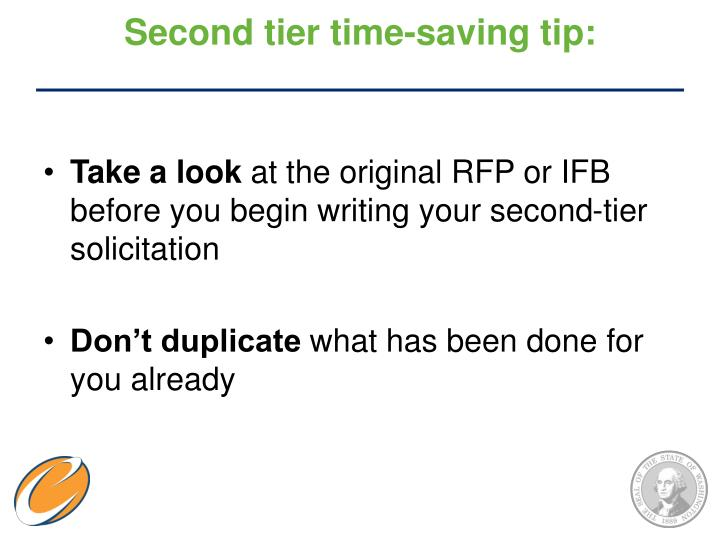 Second tier time-saving tip: