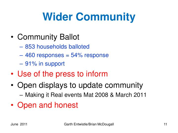 Wider Community