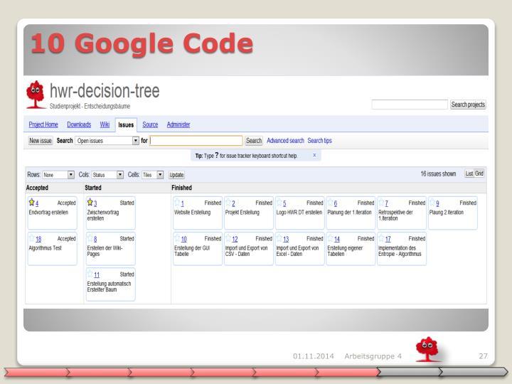 10 Google Code