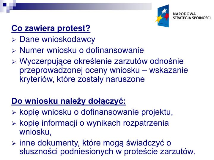 Co zawiera protest?