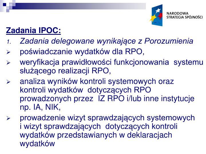 Zadania IPOC: