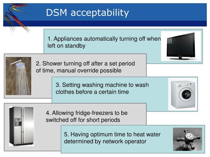 DSM acceptability