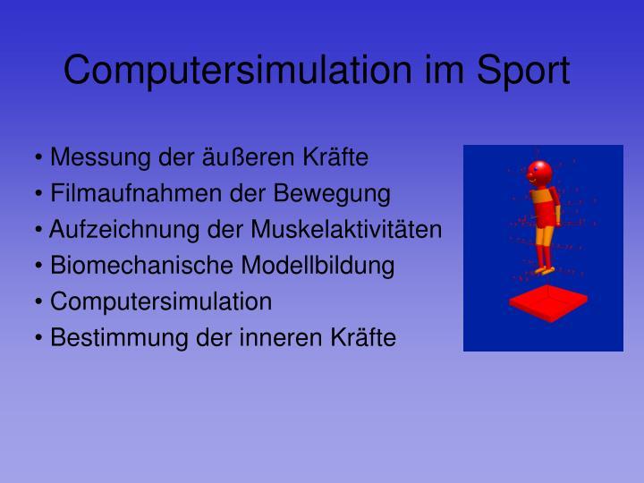 Computersimulation im Sport