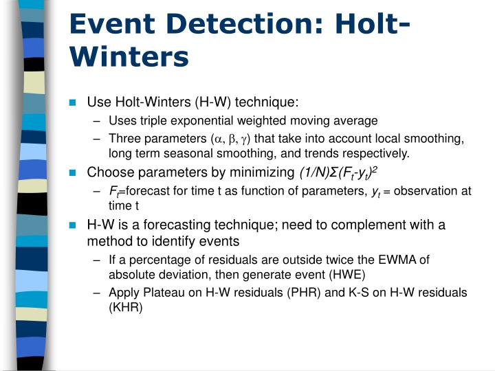 Event Detection: Holt-Winters