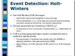event detection holt winters