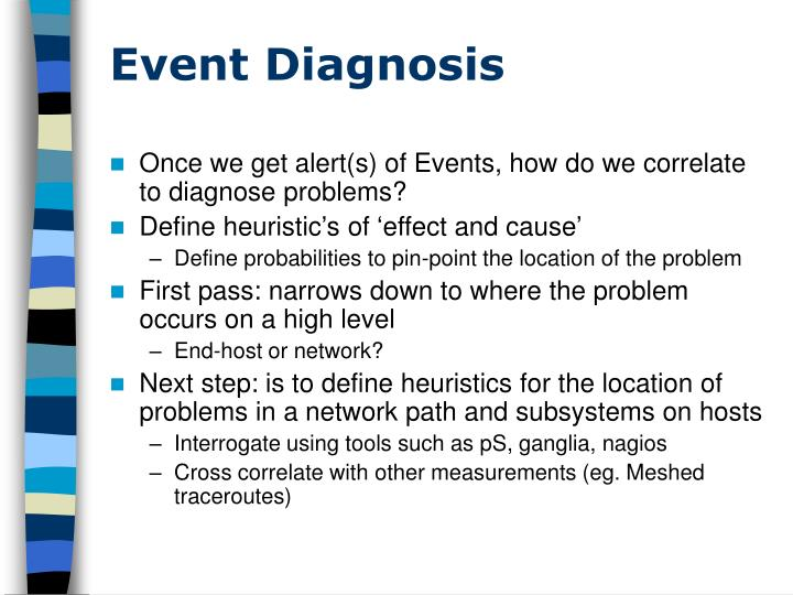 Event Diagnosis