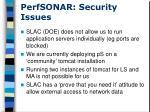 perfsonar security issues