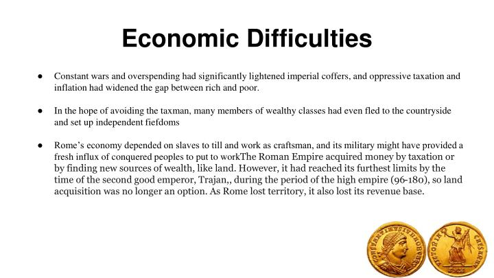 Economic Difficulties