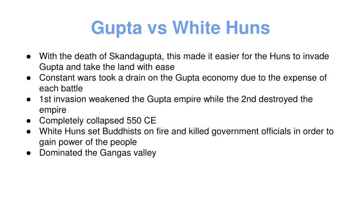 Gupta vs White Huns