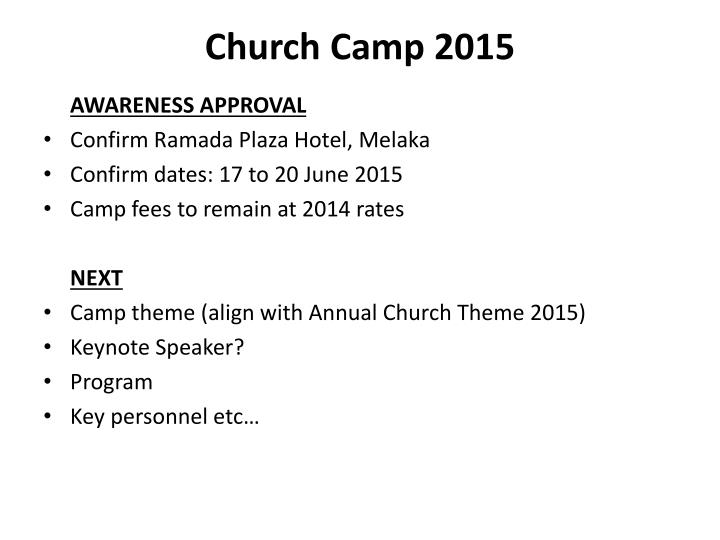 Church Camp 2015