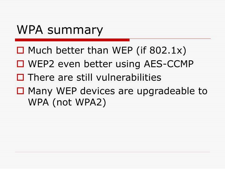WPA summary