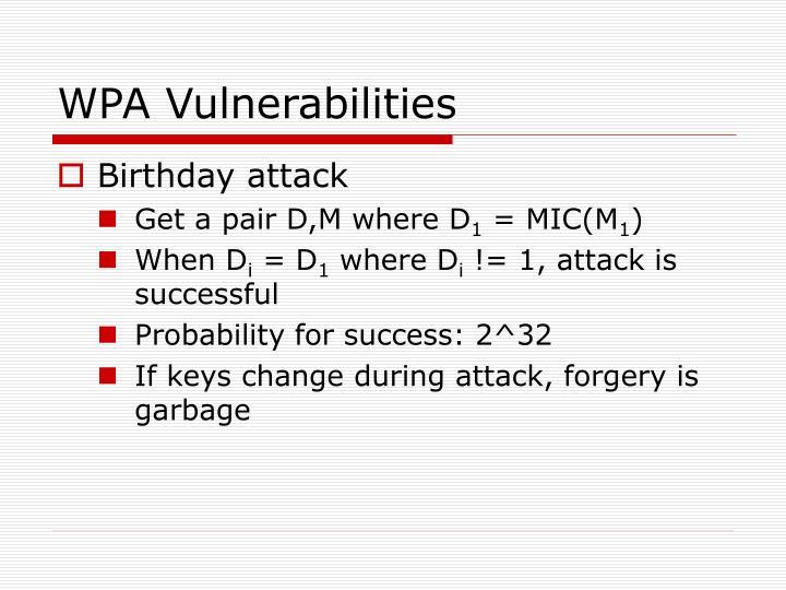 WPA Vulnerabilities