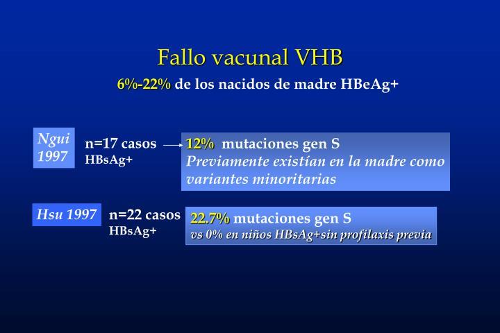 Fallo vacunal VHB