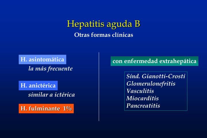 Hepatitis aguda B