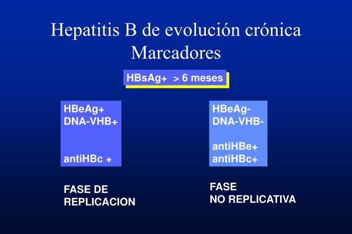 Hepatitis B de evolución crónica