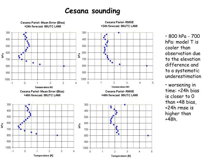 Cesana sounding