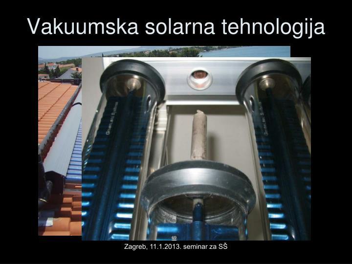 Vakuumska solarna tehnologija