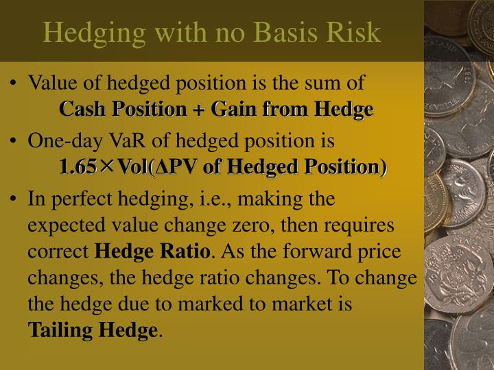Hedging with no Basis Risk