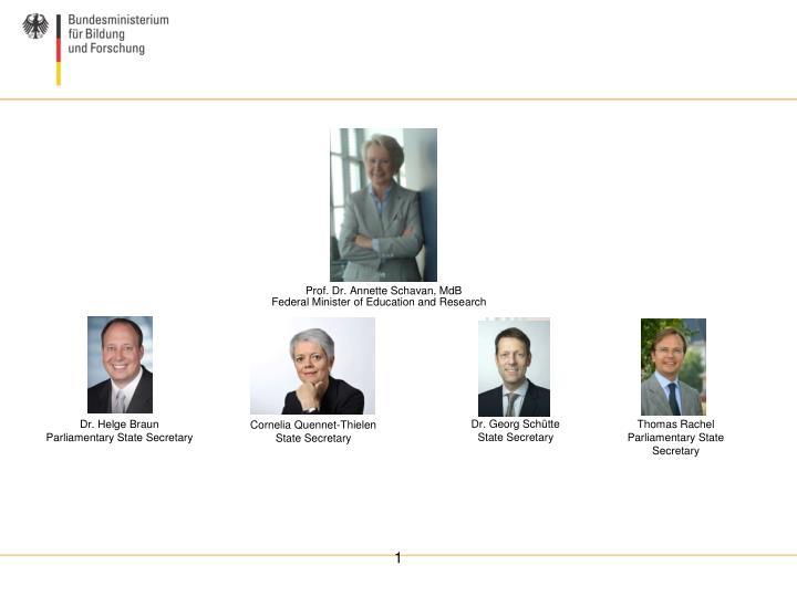 Prof. Dr. Annette Schavan, MdB