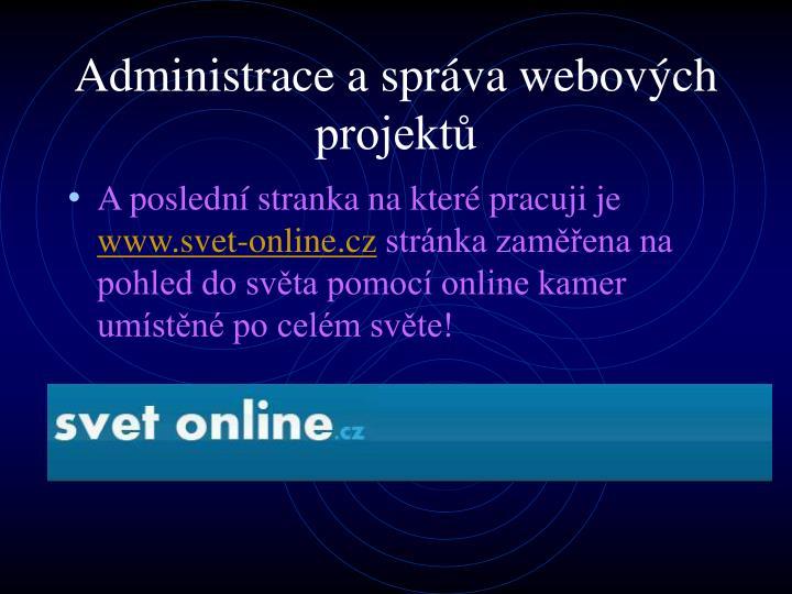 Administrace a správa webových projektů