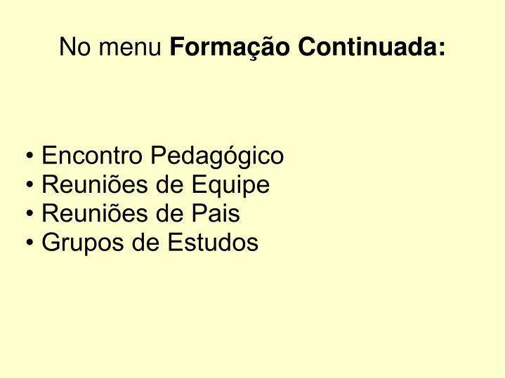 • Encontro Pedagógico