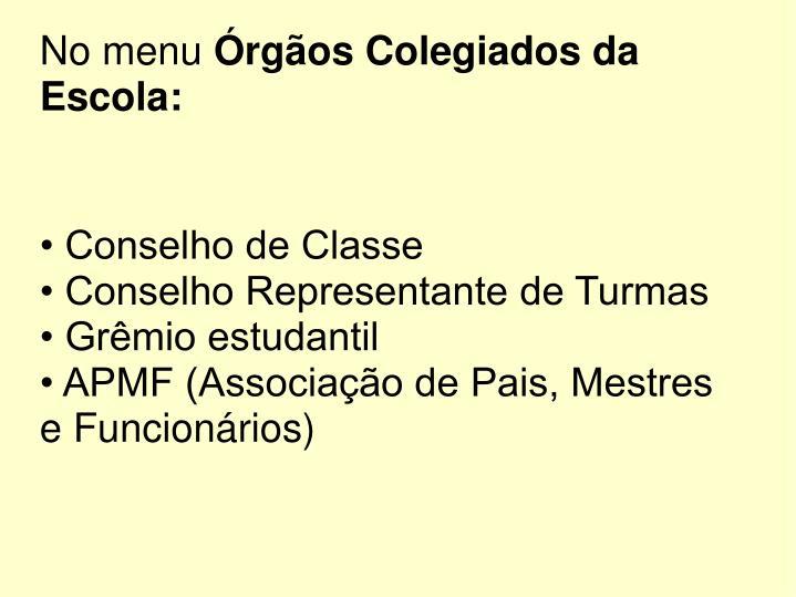 • Conselho de Classe