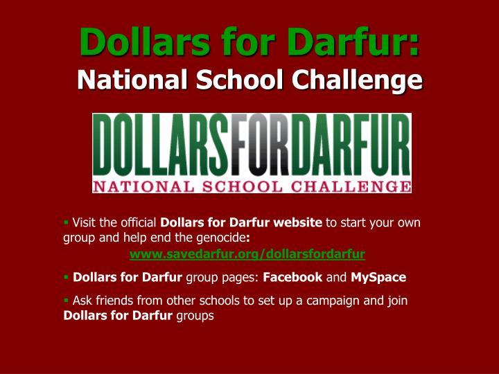 Dollars for Darfur: