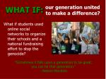 our generation united to make a difference