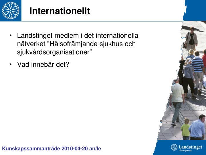 Internationellt