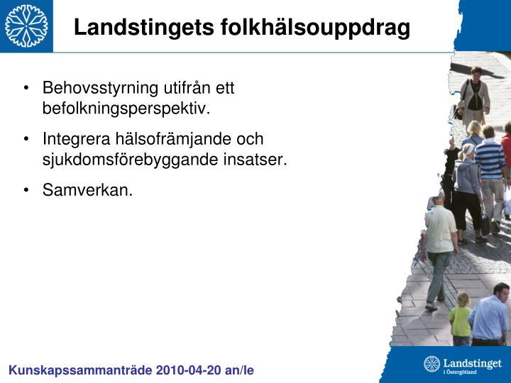 Landstingets folkhälsouppdrag