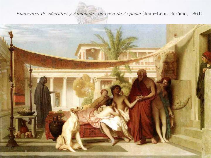Encuentro de Sócrates y Alcibíades en casa de Aspasia