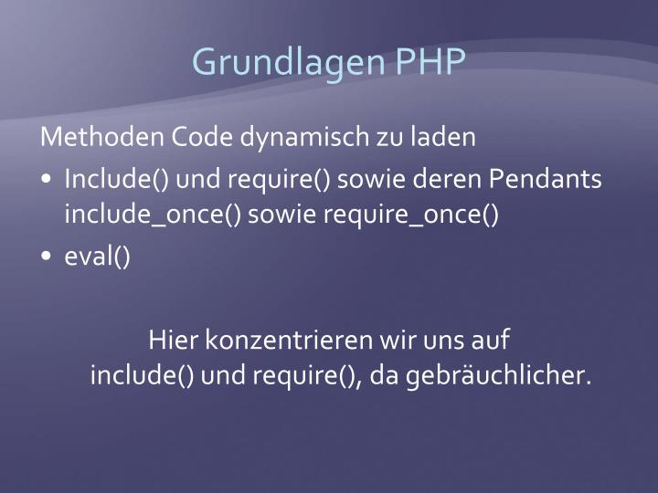 Grundlagen PHP