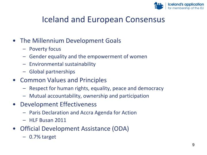 Iceland and European Consensus