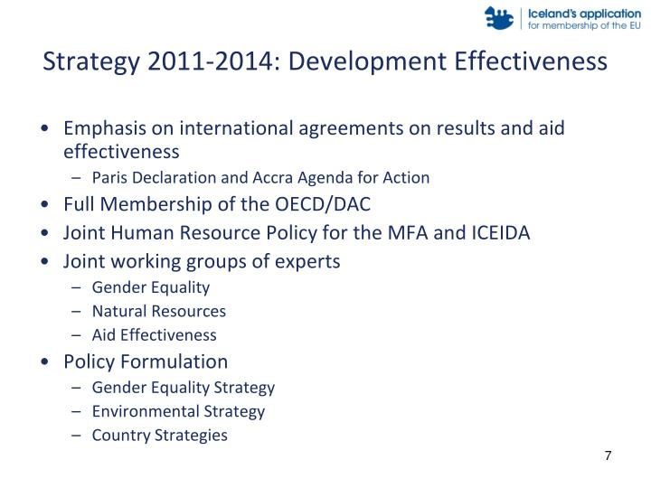 Strategy 2011-2014: Development Effectiveness