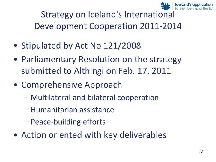 Strategy on iceland s international development cooperation 2011 2014