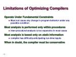 limitations of optimizing compilers